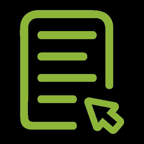Icon Text und Pfeil